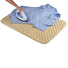 1pc Durable Cotton Home Magnetic Ironing Mat Heat Insulation Pad Clothing Cloth Ironing Pad Ironing Board Beige(China)