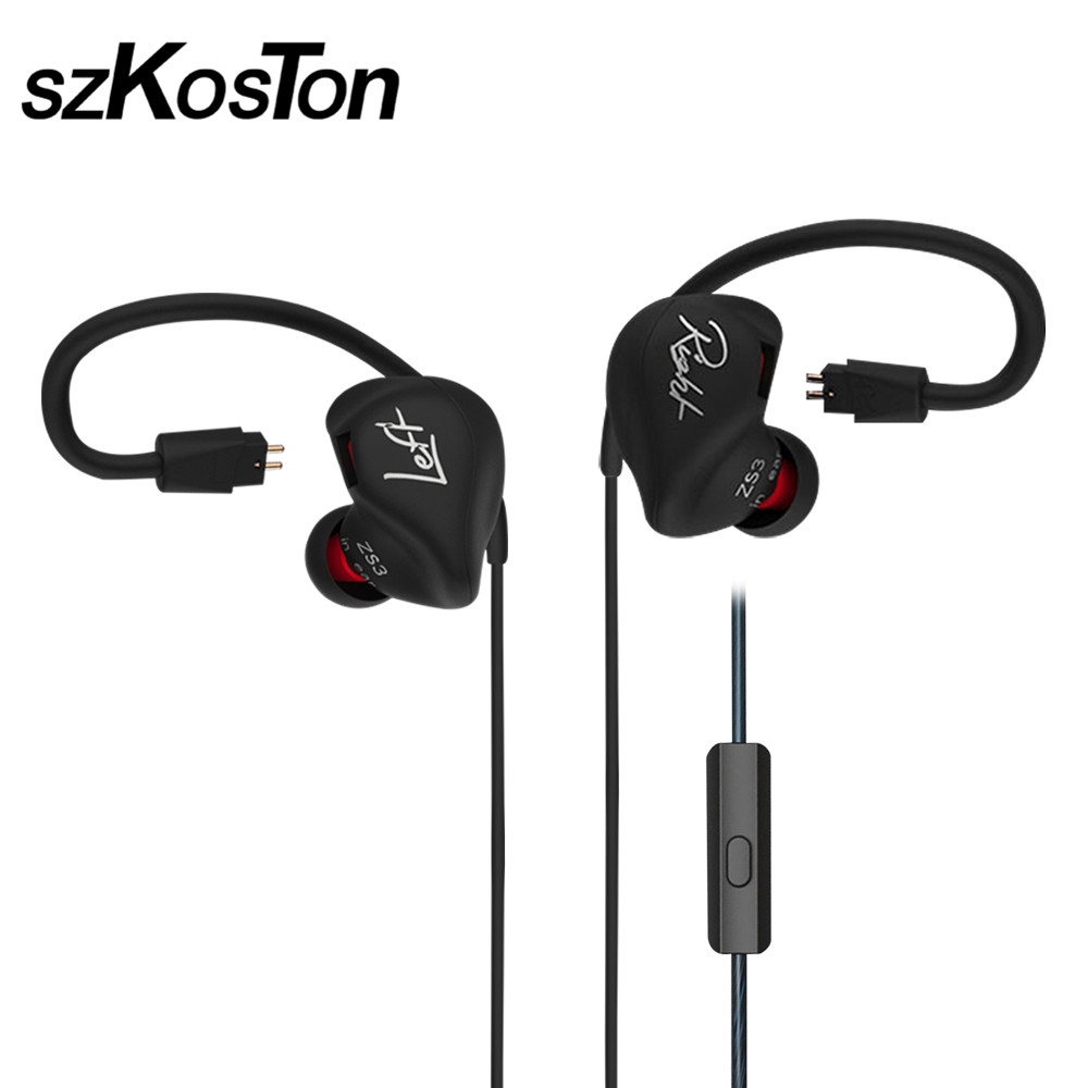 KZ zs3 Hifi Earphone With/Without Mic Metal Heavy Bass Sound Quality For Music &amp; Handsfree Phone Calls For Mobile Phone PC<br>