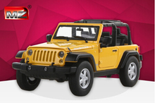 Hot sale MZ 1:24 Car Model JEEP Wrangler Alloy Children's toys Off-road vehicles Open car Military vehicle Collection baby toy
