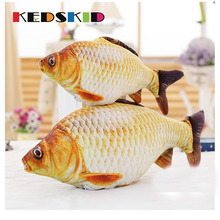 40CM/60CM New Child plush ToysSpoof The Whole Person Carp Pillow Cartoon Doll Simulation Salted Fish Gift Free Door(China)