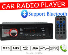Car radio player,Support BLUE TOOTH,answer / hang up the phone USB SD AUX IN, 12V 1 din car audio,car stereo mp3,Free shipping