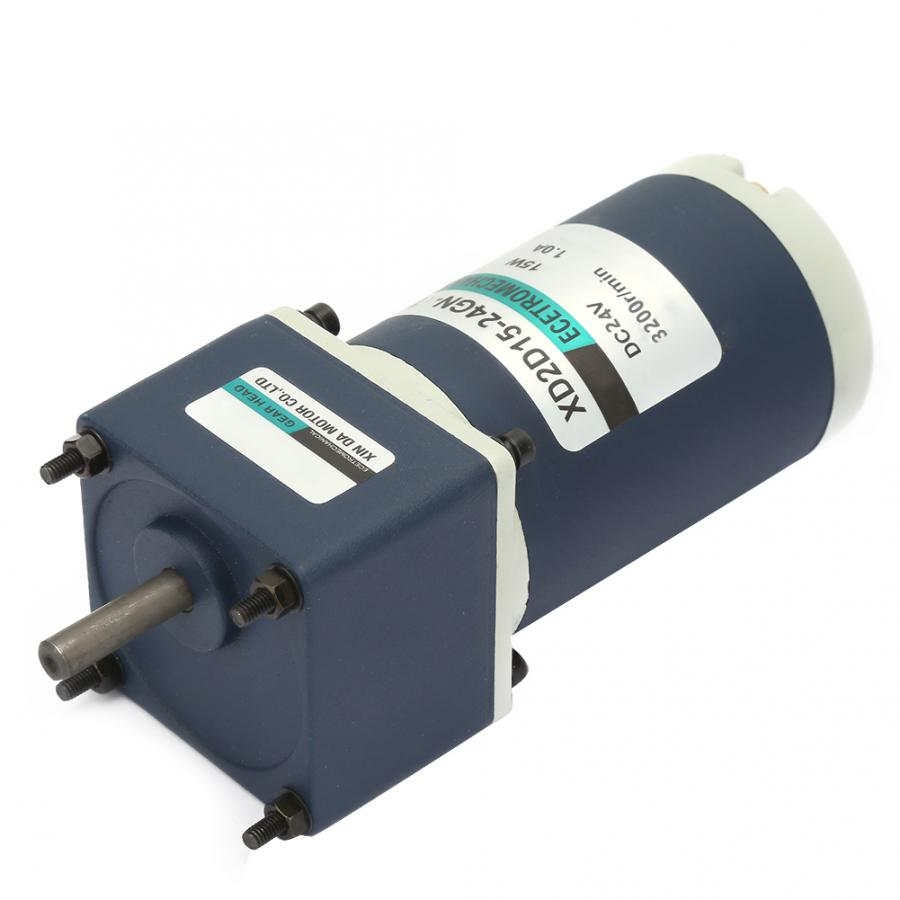 KONGZIR DC24V Reduction Motor 50, 65RPM 15W XD2D15-24GN-32S CW//CCW Permanent Magnet Reduction Gear Motor Adjustable Speed Gear Motor
