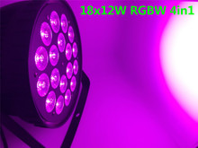 18x12 W RGBW 4in1 Led Par Luce DMX Stage Lights Affari luci Professionale Piatto Par Can per il Partito KTV Discoteca lampada(China)