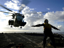 Helicopter Landing Aicraft Carrier Art Huge Print Poster TXHOME D7942