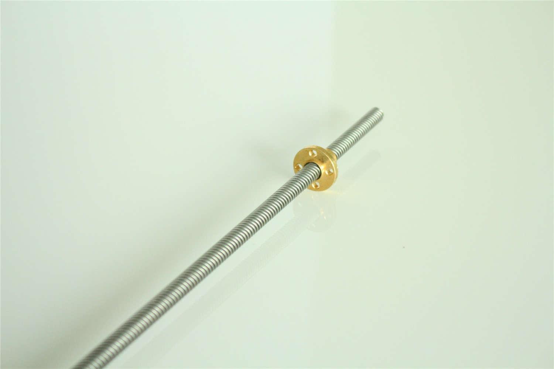 Brass Nut T20 lead screw 3D Printer 100mm~1000mm picth 4mm lead 4mm