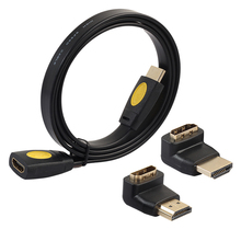 1 set HDMI Male Extension Cable To a female HDMI 4 K 3D 2.0 for HD TV LCD Del Computer Portable PS3 Projector adapter 1M