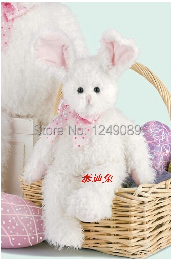 HIgh quality  lovely  Bearington plush teddy bear white rabbit  chirsmas / birthday gift for baby<br><br>Aliexpress