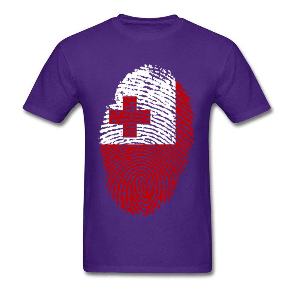 Tonga Flag Fingerprint_purple