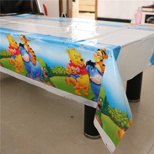 108*180cm Kids Favors Winnie Pooh Cartoon Tablecover Plastic Tablecloth Baby Shower Happy Birthday Party Decoration Supplies