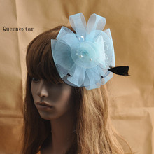 High Quality New Feather Headwear Hair Fascinator Clip Hairpin For Women Ladies Halloween Holiday Party Dinner Gauze Fascinators