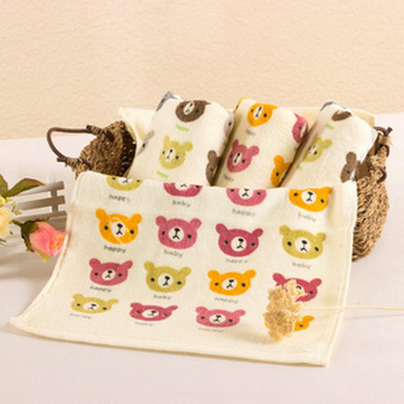Cute 100% Cotton Children Towels Cartoon Face Towels New Arrival Comfortable Baby Face Towels 50x25CM