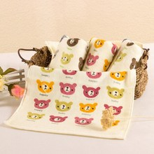 Cute 100% Cotton Children Towels Cartoon Face Towels New Arrival Comfortable Baby Face Towels 50x20CM(China)
