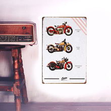 European Retro style motorcycle sign board metal Wall stickers iron crafts picture Furnishing articles painting draw bar house