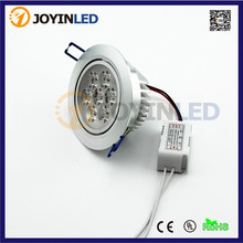 High quality 7W  LED Ceiling light  700lm AC80-245V indoor living room  led lamps Cold Warm  Pure White including power supply