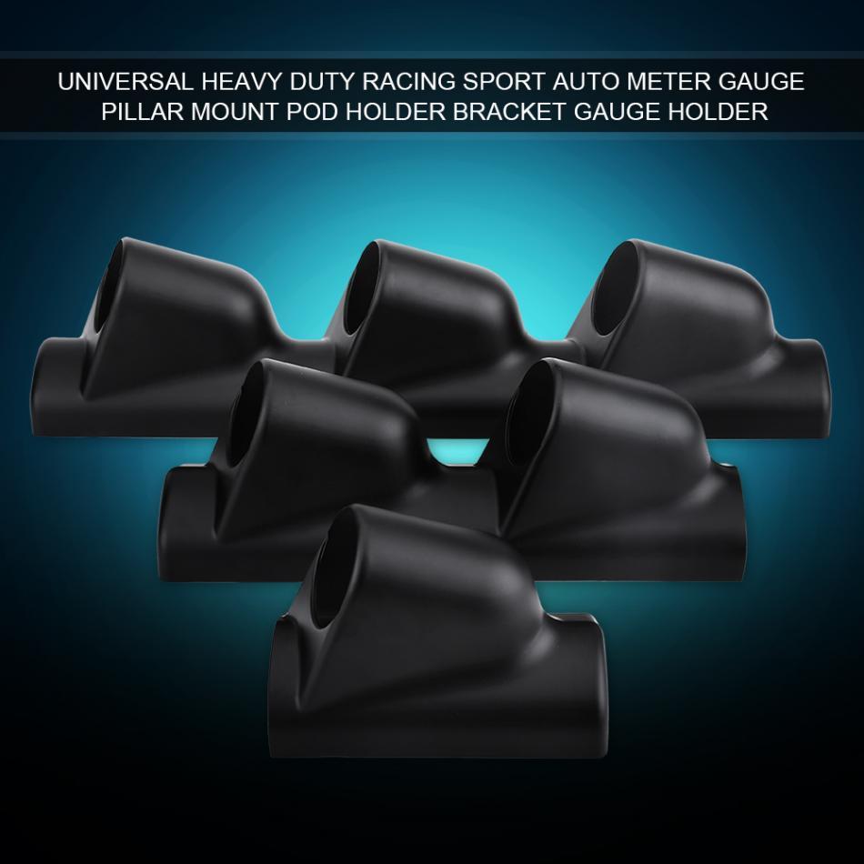 "Dual Hole 52MM 2/"" Racing Sport Auto Meter Gauge Pillar Mount Pod Bracket Holder"