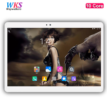 Waywalkers H8 10 inch 10 core tablet PC Android 7.0 4G LTE RAM 4GB ROM 64GB 1920x1200 IPS GPS Bluetooth tablets free shipping(China)