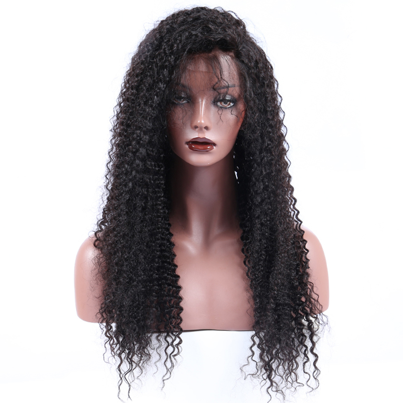 Kinky Curly Lace Front Human Hair Wigs For Black Women 130% Pre Plucked Brazilian Remy Hair Wigs CARA Bleached Knots Baby Hair