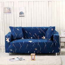 Blue Stars Couch Sofa Covers Elastic Corner Sofa Slipcovers For Living Room Loveseat Multi-size Home Decoration Sofa Slipcovers