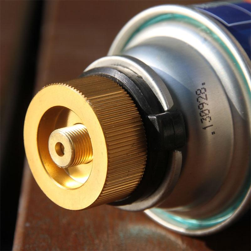 VGBEY Adaptador del Tanque de Gas v/álvula del convertidor de la Estufa de la aleaci/ón de Aluminio del Quemador del Bote del Gas