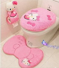 Hot Sale Toilet Seat Cover Set Cute Cartoon Figure  Bathroom Set Toilet Set Cover Bath Mat Paper Holder Closestool Lid Cover