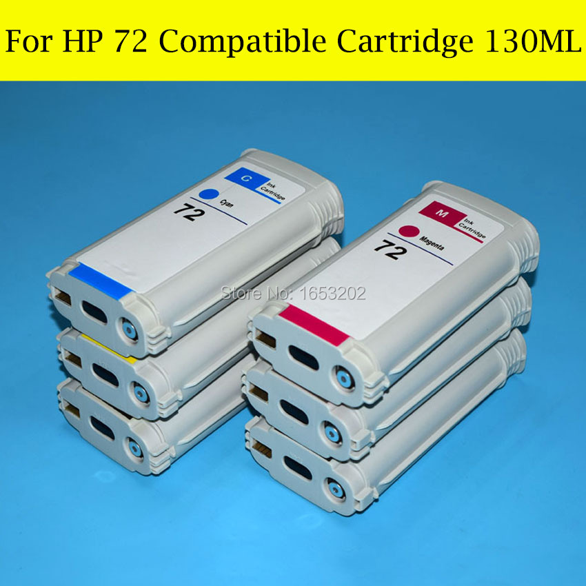 1 Lot Refill Full Ink Cartridge For HP 72 Compatible For HP T770 T790 T1100 T1120 Printer Plotter<br><br>Aliexpress