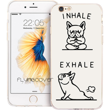 Coque French Bulldog Quote Clear Soft TPU Silicone Phone Cover for iPhone X 7 8 Plus 5S 5 SE 6 6S Plus 4S 4 iPod Touch 6 5 Case(China)