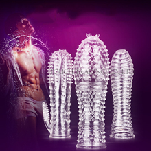 MizzZee medical silicone Crystal Clear condoms Adult sex products male penis lengthening sex toys for men Soft and comfortable
