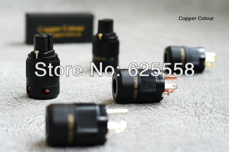 CC OCC-126F Pure OCC Copper Hi-End US AC POWER CONNECTOR+IEC Plug<br>