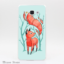 4083CA Winter Fox Transparent Hard Cover font b Case b font for Galaxy A3 A5 A7
