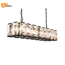 new vintage crystal pendant lights RH lamp length 84cm lustre dinning room living room crystal lighting