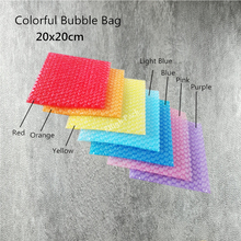 20*20cm (7.87*7.87'') 50Pcs New Heart-shaped Bubble Bags Inflatable Bag Foam Wrap For Packing Material Gift Decoration free ship(China)