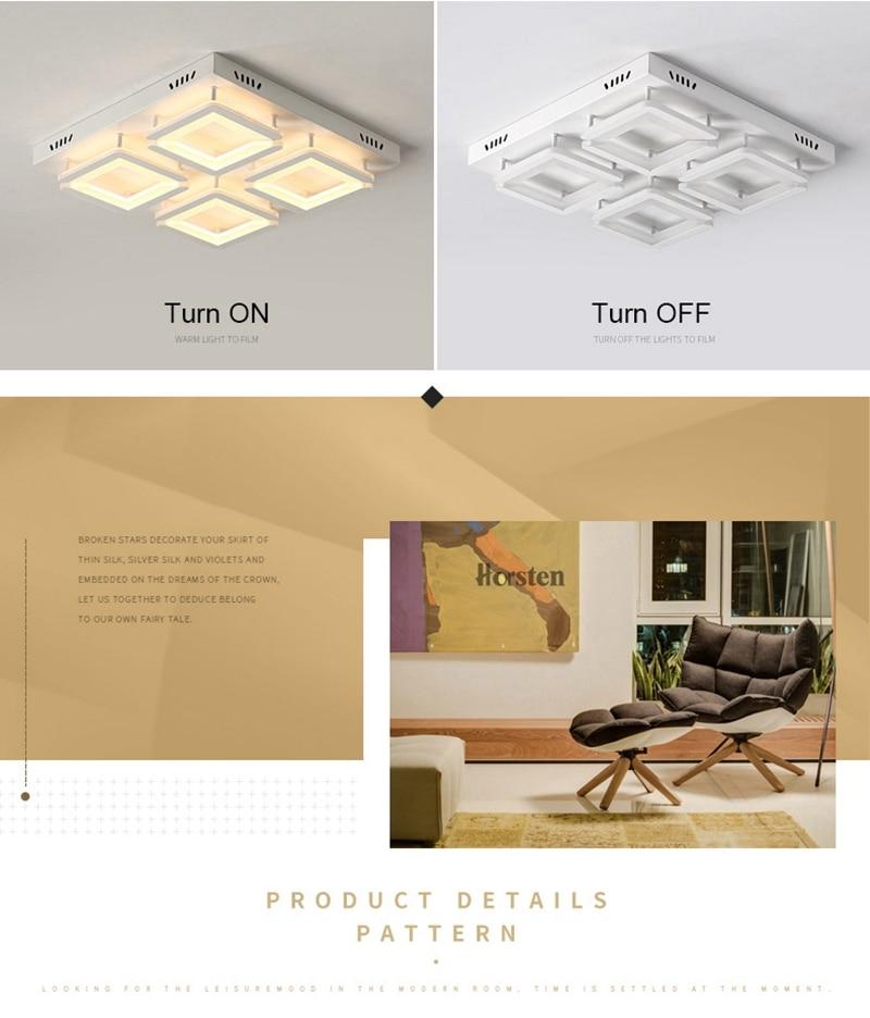 Modern Led Ceiling Light For Living Room Bedroom Kitchen Dimmer Simple LED Ceiling Lamp Home Lighting (13)