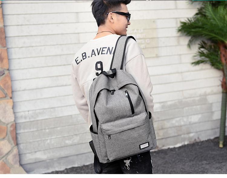 حقيبة مدرسية سوداء USB 2
