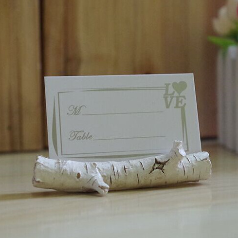 Free 10PCS Archaize Branch Wedding Place Card Holder Vintage Card Holder Wedding Decoration Centerpieces Casamento