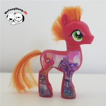 Action Figures10-13cm Little Cute Horse Model Doll Painted green apple red Shining Armor Anime Toys for Children