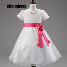 New Cheap Princess Dress for Girls Baby Kids Clothes for Wedding Party Infant Summer Clothing Birthday Tutu Dresses for Girl