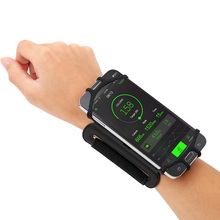 4-5.5in Running Phone Wristband 180 degree Rotatable Running Bag Belt Wrist Strap Jogging Cycling Gym Arm Band Bag for iPhone(China)
