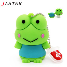 JASTER HOT sale usb flash drive gifts Frog animal pen drive 128GB 2GB 4GB 8GB 16GB 32GB frog pen drive memory stick