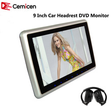 Cemicen 9 Inch Car Headrest Monitor DVD Player Support HD 1080P Video USB/SD Input Built-in IR/FM Transmitter/Speaker(China)