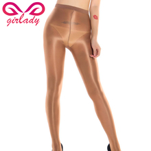Buy Girlady Sexy Women Shiny Pantyhose Tights Elastic Shining Glitter 70D Tights Skinny Nylon Stockings Club Dance Lady lingerie