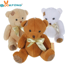 BOOKFONG 16cm Patch Bear Dolls Teddy Bear Soft Toy Bear Wedding Gifts Baby Toy Birthday gift brinquedos Soft toys