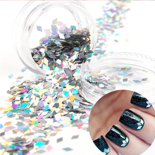 1PC 2mm Diamond Nail Glitters Sequins Glequins Nail Dust Sheets Tip Nail Art Decorations #7303