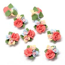 Handmade Porcelain Cabochons, China Clay Beads, Flower, Tomato, 21~24x22~23.5x12~12.5mm(China)