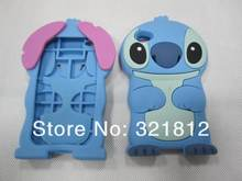 For Apple ipod touch 4 4th 4g / 6 6g 6th 5 5g 5th 3D Stitch case Cute Cartoon lovely soft silicone rubber back cases skin 100pcs