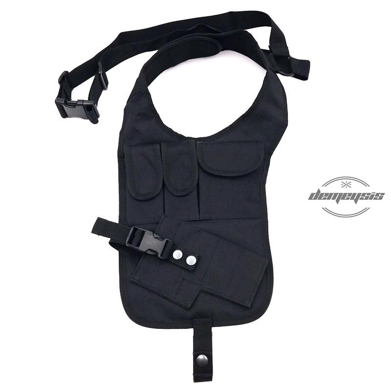 YOOJIA Mens PU Leather Hidden Underarm Shoulder Bag Safety Double Shoulder Armpit Bag Adjustable Holster Bag for Travel Outdoors