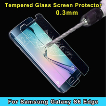 500pcs 0.26mm Tempered Glass for Samsung Galaxy S6 edge 9H 2.5D Arc edge Anti Explosion Finger Print Film without retail package