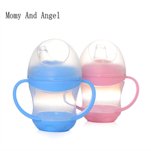 HOT SALE 160ml Leakage-proof Portable Baby Feeding Bottle Soft Mouth Duckbill Sippy Infant Training Drinking Water Handle Bottle