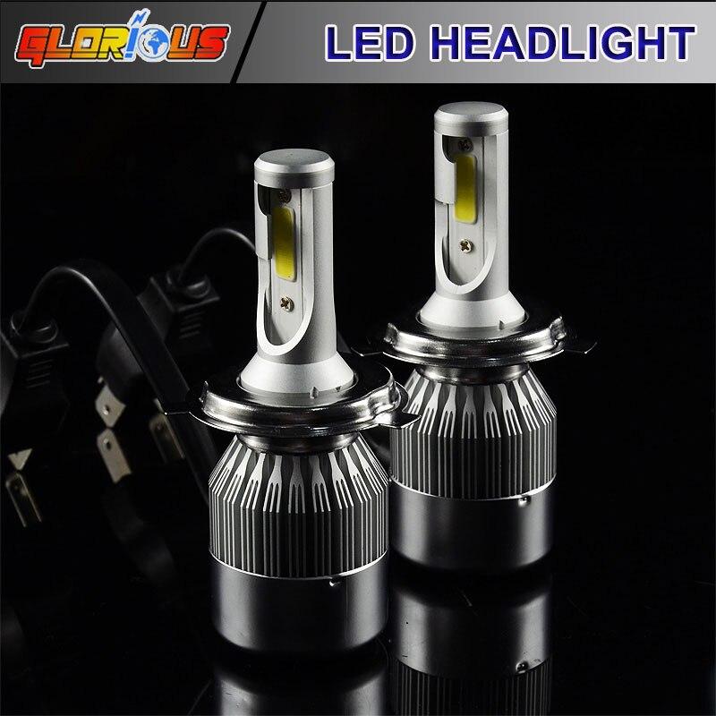 H4 led HB2 9003 Hi/Lo Led  High Power 72W 7600lm H1 H3 H7 H11 9005 9006 xenon White Car Headlight Fog Light Conversion Kit<br><br>Aliexpress