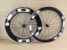 Clincher alloy Wheels Made in taiwan DIY painting road bike 50mm carbon alloy 38 60 88 wheelset with 3K 23mm width free shipping(China)