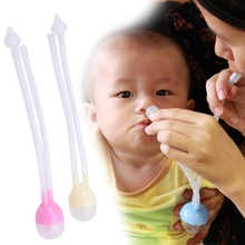 2017 Newborn Baby Safety Nose Cleaner Vacuum Suction Nasal Aspirator Flu Protections apr10_35